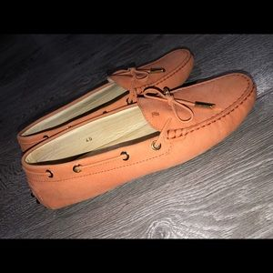 Tod's Loafers in Suede Peach